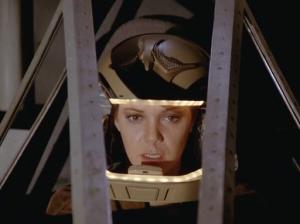 Sheba in Her Galactica Helmet