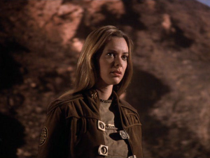 "Anne Lockhart as Sheba.  Direct predecessor to Colonel Wilma Deering of Larson's other Sci-Fi show ""Buck Rogers in the 25th Century."""