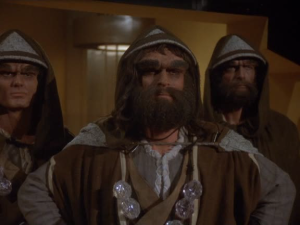 Lance LeGault as Maga (Center).  His Credit is not listed in the episode.