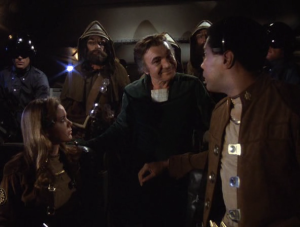 Baltar Takes Over the Shuttle, Throws a Party