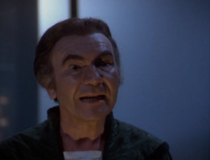 Count Baltar.  When he stopped being duplicitous and started acting like a typical black hat bad guy, Galactica (the show) suffered because of it.