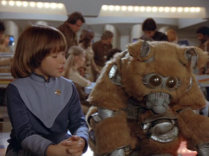 "Boxey and Muffit 2.  Glen Larson's version of ""A Boy and His Dog.""  Galactica gets derided as ""A Children's Show"" because of writing decisions involving these two characters."