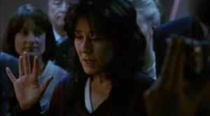 Mary McConnell as Laura Roslin...or is it Marilyn Whitmore?  Or is it Hillary Rodham Clinton?