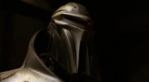 CGI-drawn New Cylon Centurion.  Bigger, and More Menacing...But They Stand Around and Do Absolutely Nothing.