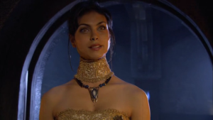 Adria from Stargate SG-1.  Her behavior could have also landed her as a WoC Trope Version 2 (The Traitor) - if she actually did anything.