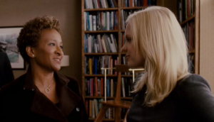 Carla Dunkirk (left) interrogating Hannah Lewis about Matt Saunders.  A one-trick character if there ever was one.