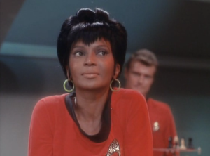 Nichelle in the 1960s.  Beautiful and Dignified at the same time, but more importantly, Intelligent and Composed.  For Black Women, especially in Science Fiction, this is still groundbreaking 50 years later.