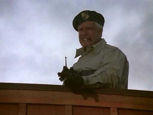 Hannibal Smith with an M-60 heavy machine gun.  Note that he is also wearing Ray Brenner's beret in this scene.