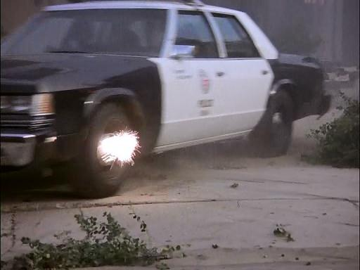 A .50 caliber bullet hits the police and does nothing?