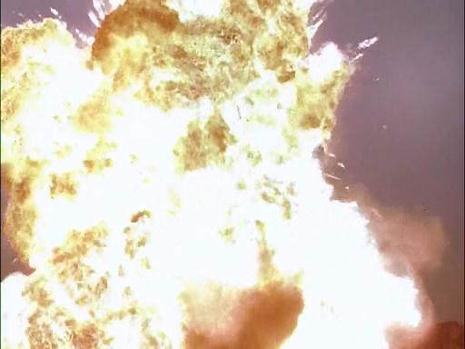 The plane blows up.  With live ammunition still onboard.